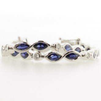 BD0024 Sapphire & Diamond Line Bracelet