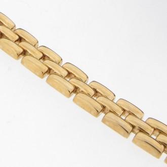 BN0048 9ct Brick Link Bracelet