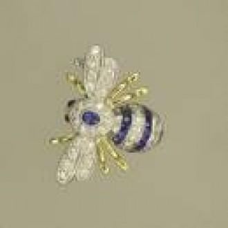 BO0013 18ct Bee Brooch