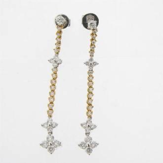 ED0262 Diamond Drop Earrings