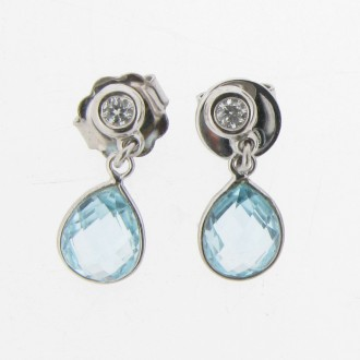 ED0291 Topaz & Diamond Earrings