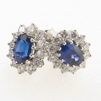 ED0443 Sapphire & Diamond Earrings