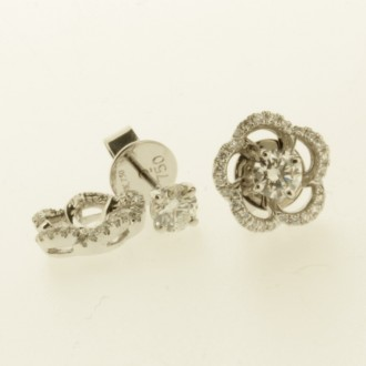 ED0498 18ct Diamond Cluster Earrings - removable centre