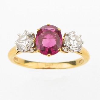 G602 Ruby & Diamond Ring