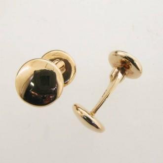 LN0011 9ct Gold Button Cufflinks