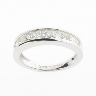 MS1082 Diamond Half Eternity Ring