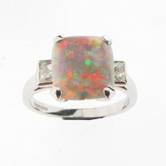 MS2003 Opal & Diamond Ring