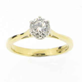 MS3336 18ct Diamond Solitaire Ring