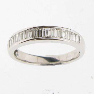 MS4719 Diamond Half Eternity Ring