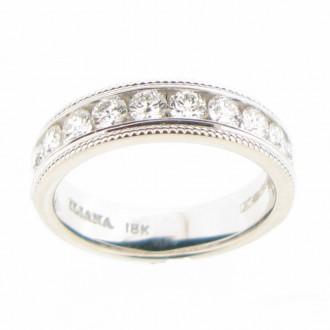 MS4808 18ct Diamond half Eternity Ring