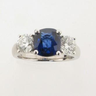 MS5145 Sapphire & Diamond Ring