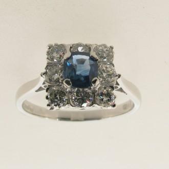 MS5691 Sapphire & Diamond Ring