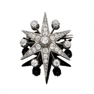 MS6274  DIAMOND BROOCH Circa 1890