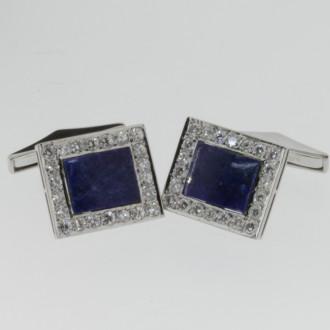 MS6311 Lapis Lazuli & Diamond Cufflinks