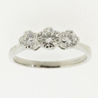 MS6509 Diamond Three Stone Ring