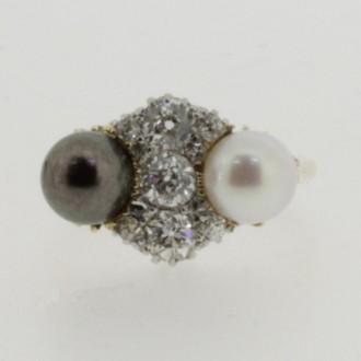 MS6520 Diamond & Pearl Ring