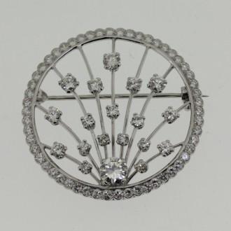 MS6537 Diamond Brooch