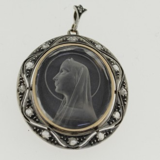 MS6564 Antique Madonna Pendant