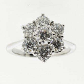 MS6609 Diamond Cluster Ring