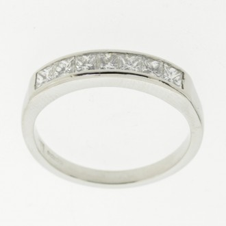 MS6610 Diamond Half Eternity Ring