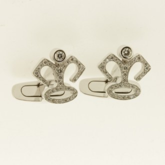 MS6881 18ct Diamond Cufflinks