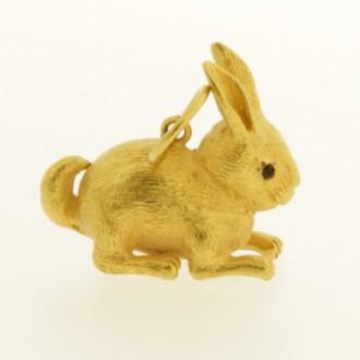 MS6926 Rabbit Pendant Fine Gold