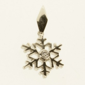 MS7075 Snowflake Diamond Pendant