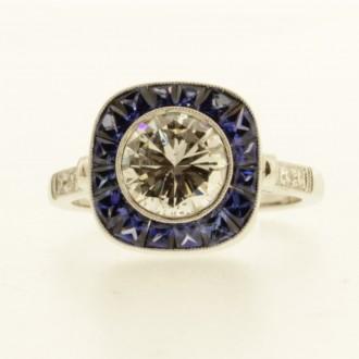 MS7215 Diamond & Sapphire Ring