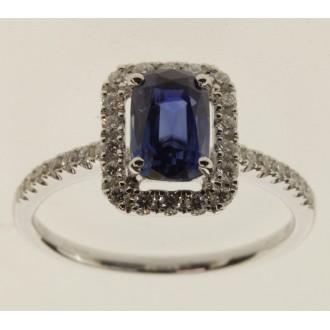 MS7290 18ct Sapphire & Diamond Ring