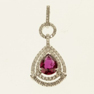 MS7296 Ruby & Diamond Pendant