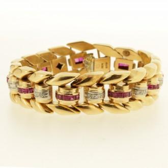 MS7500 Ruby & Diamond Bracelet