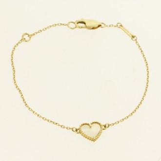 MS7512 Pre owned. Sweet Alhambra Heart Bracelet