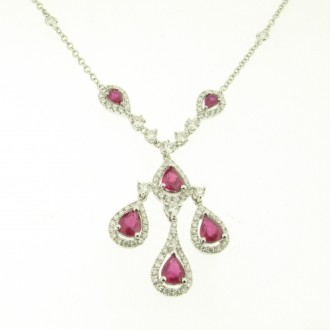 NK0106 Ruby & Diamond Necklet