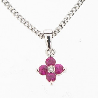 PD0153 Ruby & Diamond Pendant