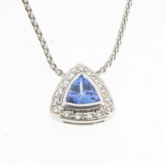 PD0159 Tanzanite & Diamond Pendant