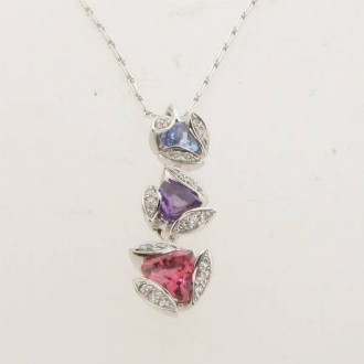 PD0263 Multi Gem & Diamond Pendant