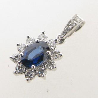 PD0466 Sapphire & Diamond Pendant