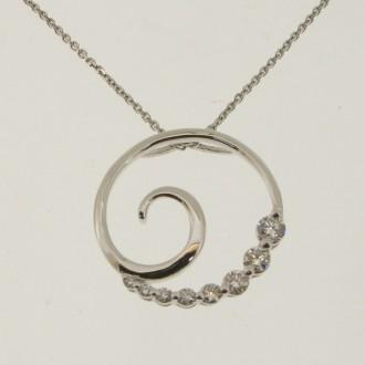 PD0470 18ct Diamond Pendant