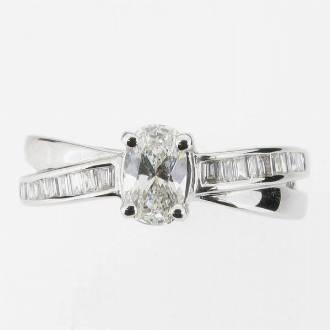 RD0220 Diamond Cross Over Ring