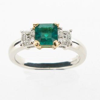 RE0011 Emerald & Diamond Ring