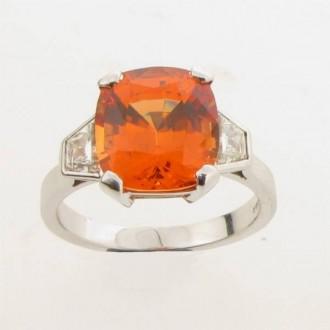 RM0027 Mandarin Garnet & Diamond Ring