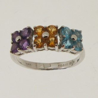 RM0088 14ct Multi Stone Ring