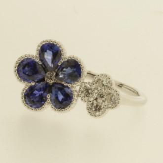 RS0082 18ct Sapphire & Diamond Ring
