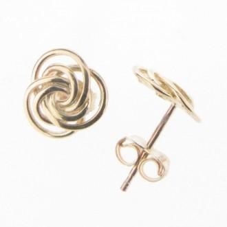 EG0362 9ct Knot Earrings