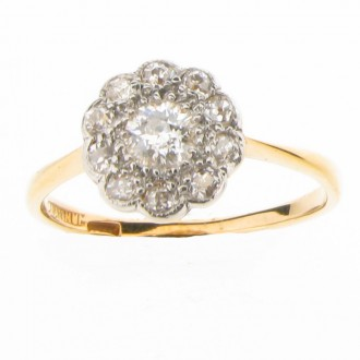 MS0831 Diamond Cluster Ring