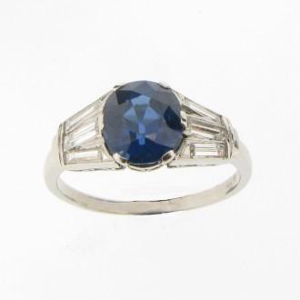 MS1280 Sapphire & Diamond Ring