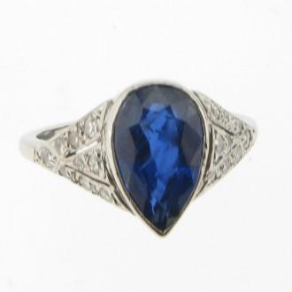 MS1299 Sapphire & Diamond Ring