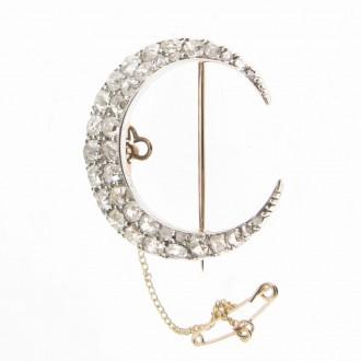 MS4911 Victorian Diamond Crescent Brooch