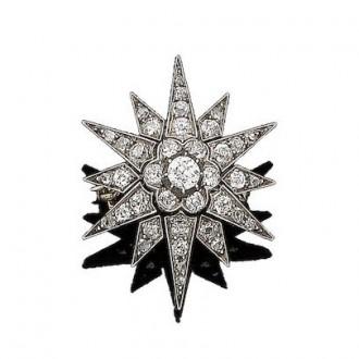 MS6275 Diamond Star Brooch Circa 1880