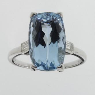 MS6288 Aquamarine Ring